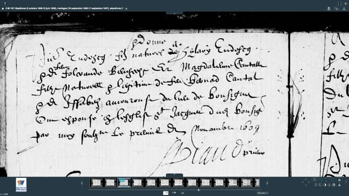 M Tudesq Pierre Magdelaine Cantal 1609