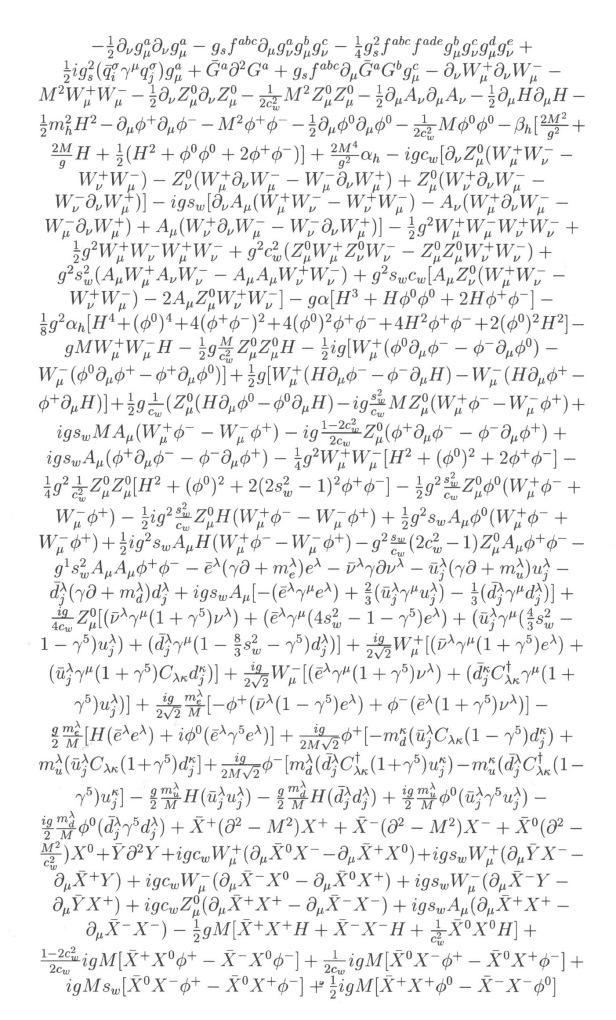 Le Lagrangien Du Modele Standard Chronique De Rhea